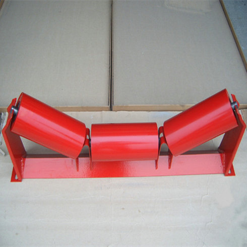 Trough carrying rollers